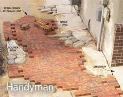 how to build pathways brick and stone pathways family handyman