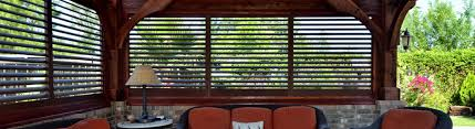 Wind Screens For Decks by Exterior Plantation Shutters Shade And Shutter Systems Inc