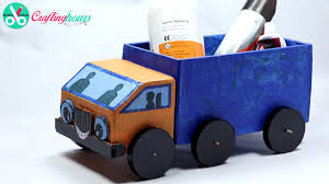 how to make a cardboard kids toy truck with waste material best