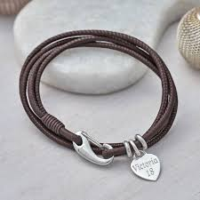 leather wrap bracelet women images Personalised sterling silver and leather wrap bracelet by jpg