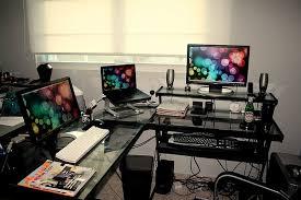 L Gaming Desk L Shaped Gaming Desk Glass Top Fascinating Regarding Ideas 13