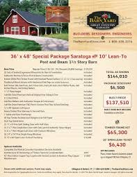 Post And Beam Barn Kit Prices Post And Beam Barn Special Packages The Barn Yard U0026 Great Country