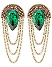 green earrings in green earrings women jewellery