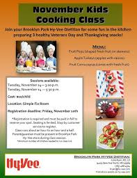november in the kitchen cooking class at park hy vee