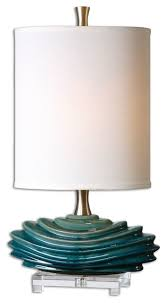 Uttermost Table Lamps On Sale Uttermost 29976 1 Talucah Teal Blue Accent Lamp Contemporary