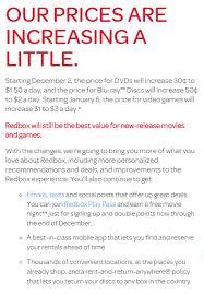 5 star flicks redbox to increase rental rates starting december 2nd