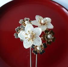 s kanzashi hair ornament traditional japanese hair accessory