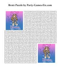 bratz party games free printable games activities