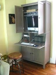 tall secretary desk with hutch computer desks computer desks for home office ikea small harbor