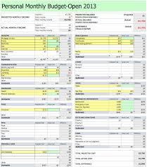Income Projection Spreadsheet My Budget