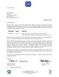 Certification Letter Template Sle Ansi Certification Letter Inby Supply