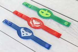 party favor bracelets pj masks felt bracelet party favors available from ceciandjuju