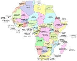 mapa de africa países y capitales de áfrica saber es práctico