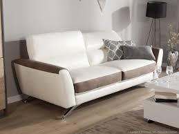 canapé cuir et microfibre canapé en cuir et microfibre avec têtières réglables