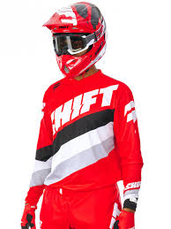 Shift Red 2017 Label Whit3 Tarmac Mx Jersey Shift