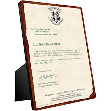 personalized hogwarts acceptance letter chromaluxe panel wbshop com