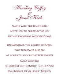 Wedding Invitations In Spanish Spanish Wedding Invitations Wording Lake Side Corrals