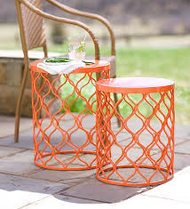 small round outdoor side table patio side table metal seb6nq cnxconsortium outdoor furniture within