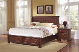bedroom vaughan bassett new haven sleigh storage bed sfdark