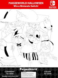 paigeeworld halloween contest line art downloads