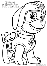 coloring pages paw patrol coloring