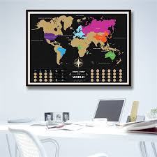 World Map Home Decor Aliexpress Com Buy New Travel Deluxe World Map Gold Black