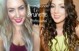 blonde to brunette hair from blonde to brunette the right way jade madden youtube