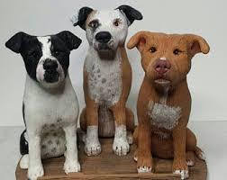 american pitbull terrier figurines pit bull cake topper etsy