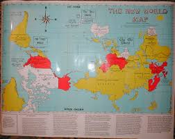 Norway On World Map by The Upsidedown Map Page Francis Irving