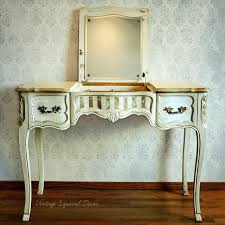 Annie Sloan Bedroom Furniture Vanities French Louis Dressing Table For Sale Shabby Chic White