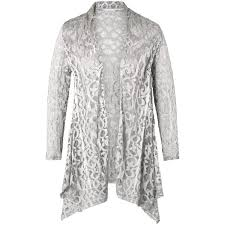 silver cardigan sweater chesca stretch lace shrug silver grey 190 liked on polyvore