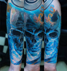 blue skull sleeve best design ideas