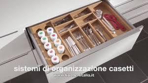 Divisori Cassetti Cucina by Kuchen Italia Sistemi Di Organizzazione Cassetti Youtube