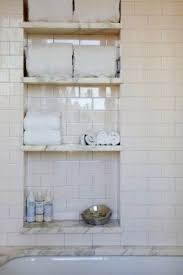 Recessed Shelves In Bathroom Bathroom Wall Storage Shelves Foter