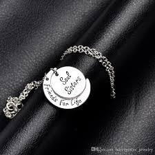 Hand Stamped Necklace Wholesale 2017 Hand Stamped Jewelry Soul Sisters Friends For Life