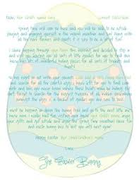 easter bunny letter easter bunny letters pinterest examples