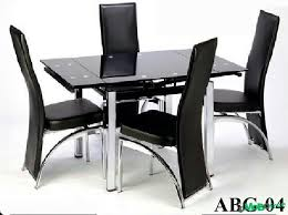 Black Glass Dining Table And 4 Chairs Alluring Dining Table 4 Chairs Dining Room Dining Room 4 Chair