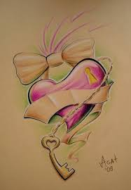 heart and key tattoo designs for couples best tattoo designs