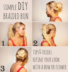 nice hairdos for the summer simple diy spring summer hairstyle braided bun hair fancy