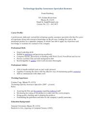 cosy quality control resume example for qa resume templates