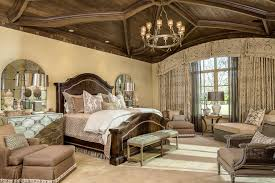 Mirrored Bedroom Bench Drapes For Large Windows Bedroom Traditional With Antiqued Mirror