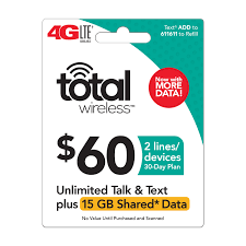 Plan 2 by Total Wireless 60 Shared Data Family Plan W 15gb For Up To 2
