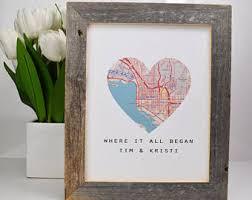 newlywed gift newlywed map print etsy