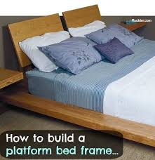 Custom Platform Bed How To Build A Custom Platform Bed Frame With Cantilever Supports