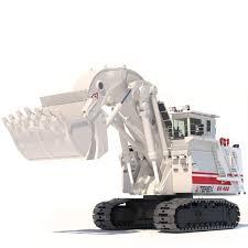 3d model excavator terex o k rh400 cgtrader