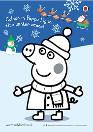 peppa pig snowy colouring scholastic kids u0027 club