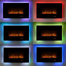ambiance linear wall mount electric fireplace 95