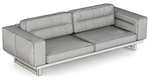 furniture home restoration hardware durrell leather sofa d model