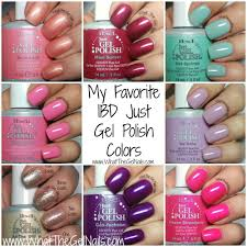 my favorite ibd gel polish colors and swatches of the colors ibd