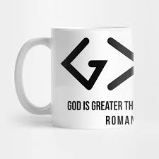 god is greater than the highs and lows christian christian mug
